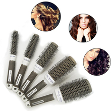 5pcs Ceramic Ionic Radial Round Comb Hair Dressing Brush Salon Styling Barrel Anti-static escova de cabelo Detangling Hairbrush
