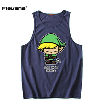 Flevans Brand Men Clothing Fitness Singlets The Legend of Zelda Printed Mens Tank Tops Summer Man Cotton Sleeveless Undershirts