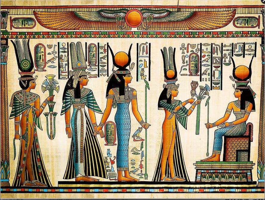 Ancient Egyptian Pharaoh Photo Wallpaper Retro Art Mural Wallpaper