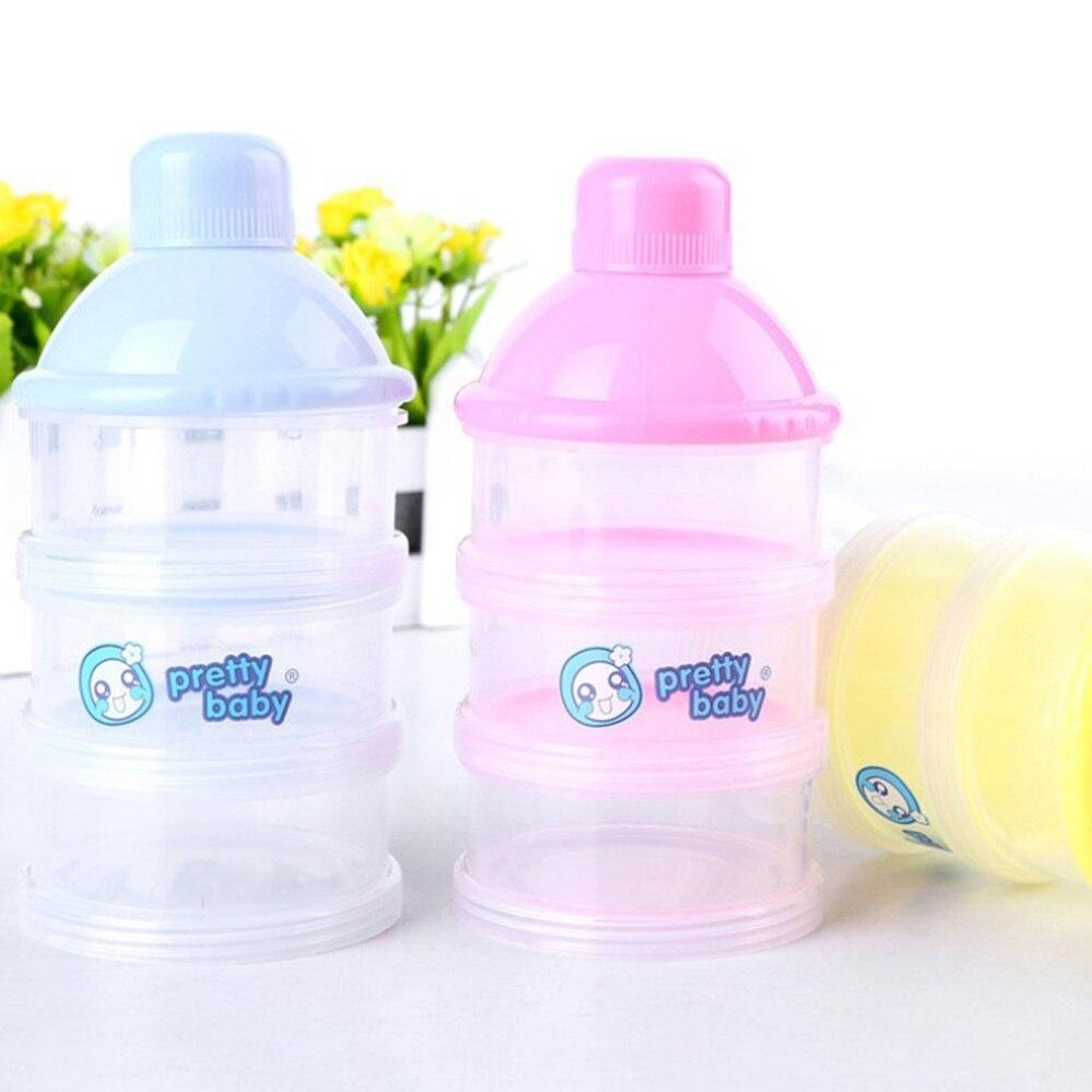 Neue Ankunft Tragbare Baby Infant Feeding Milchpulver Flasche Container 4 Schichten Grid Box Zufällige Farbe Reise Aufbewahrungsbox Produkte Mutter & Kinder Fütterung