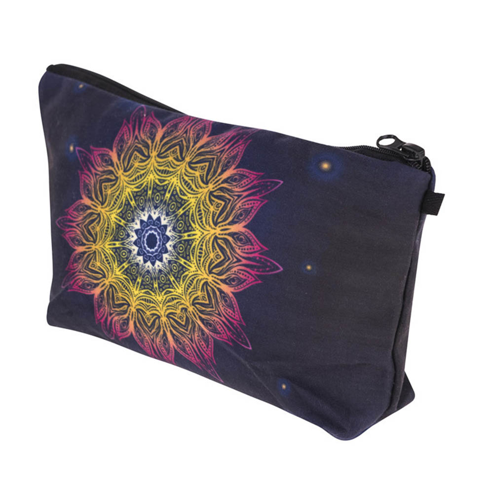 Cosmetic Bag Floral Printed Women Makeup Bags New Vintage Female Zipper Make Up Pouch Portable Travel Cosmetics Bag