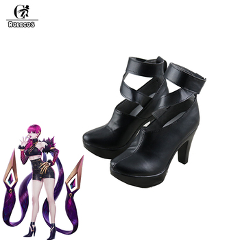 ROLECOS LOL KDA Eveylnn Cosplay Shoes LOL Evelynn Cosplay Boots for Women Cosplay Shoes K/DA Evelynn High-Heeled Shoes Boots