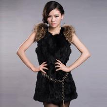 Fur Story 020157 жилет из натурального кроличьего меха с мехом енота, пальто, куртка, пальто