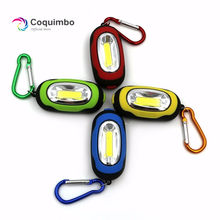 Creative COB LED Keychain Flashlight 3-Modes Mini Light Lamp Ring Key chain Torch Keyring Green/Red/Yellow/Blue(China)