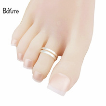 BoYuTe 5Pcs Fashion Women Foot Jewelry Metal Brass Adjustable Silver Gold Toe Ring-in Body Jewelry from Jewelry & Accessories on AliExpress