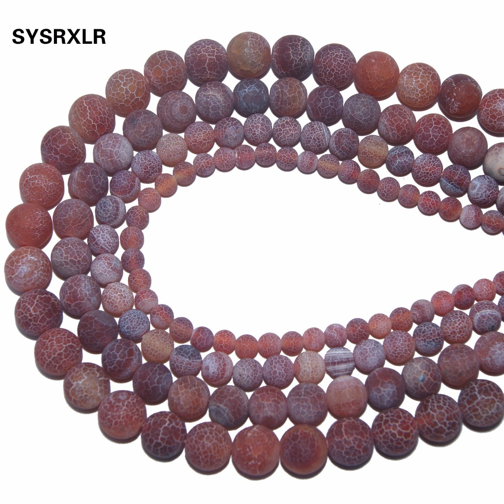 Jewelry & Accessories Dashing Wholesale Red Weathered Carnelian Beads Natural Stone Top Quality Round Loose Beads 6/8/10/12 Mm Jewelry Bracelet Making Diy