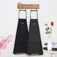 1Pcs Denim Apron Woman Men Unisex Adult Bibs Home Cooking Baking Coffee Shop Cleaning Aprons Kitchen