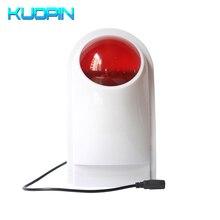Sirena de Flash al aire libre inalámbrica 433HMz Uso de frecuencia para sistemas de alarma GSM de seguridad antirrobo para el hogar