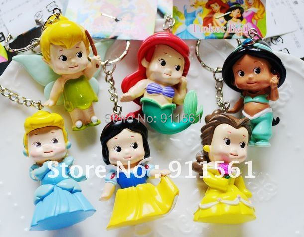 Free shippping High Quality PVC Princess doll toy 6 pcs Collection Figure wholesale