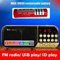 Al por mayor Con 18650 Batería Recargable TF USB Portable Speaker Bass Mejorar el Audio MP3 Player FM Radio Reloj de Tiempo