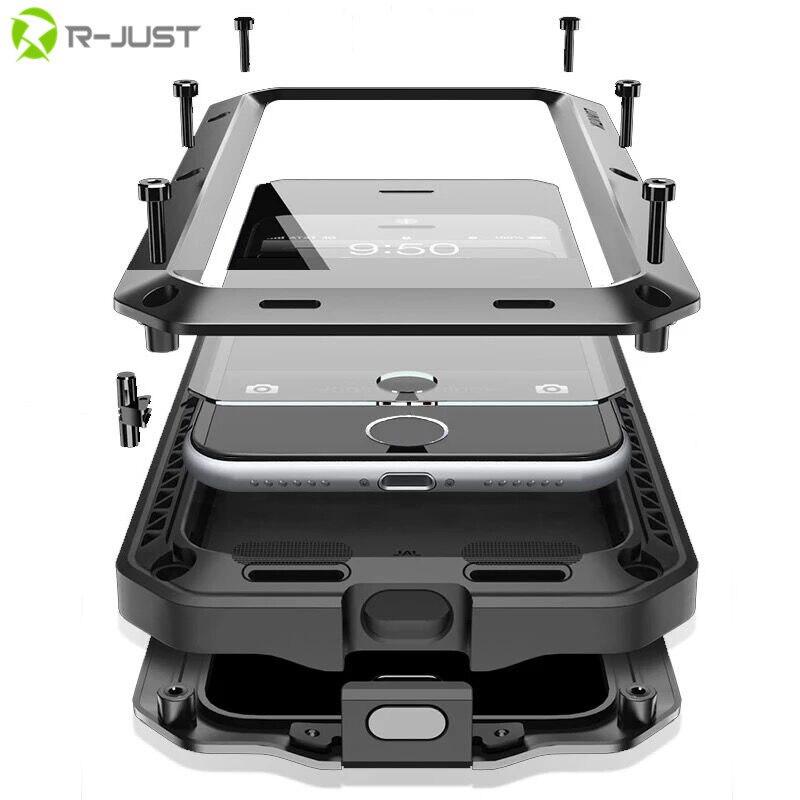 Caso Heavy Duty per il iphone Xs 7 Più Il Doom Armatura Cassa Del Metallo per iPhone 6 s 6 Plus Shockproof della Copertura della cassa per Samsung Galaxy S6 S7 Bordo