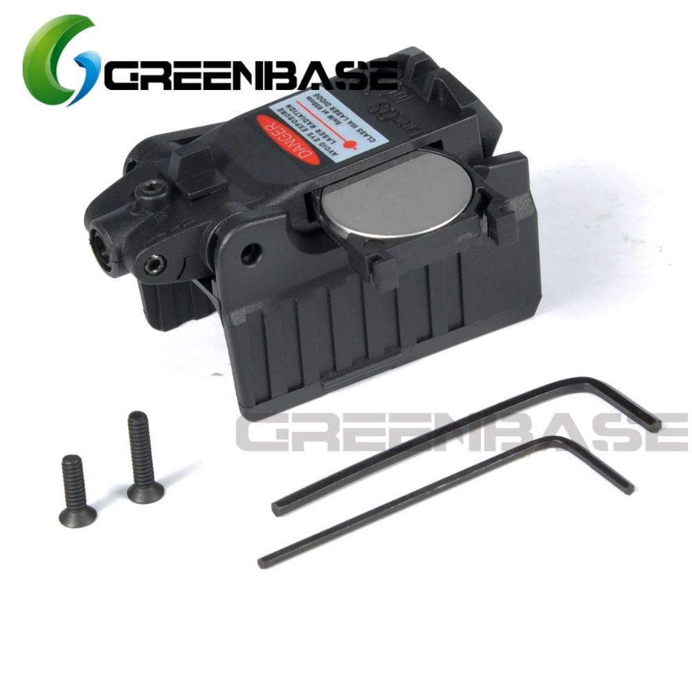 Greenbase Tactical Red Dot laser Sight Scope for Airsoft KWA KSC Glock 17 22 23 25 27 28 43 Pistol Iron Rear Sight-1