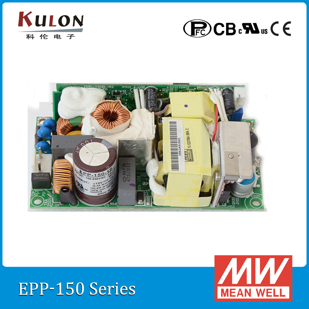 Original Meanwell EPP-150-12 150W 12V 12.5A mean well EPP-150 open frame Power Supply with PFC epp petrone minu ameerika i