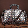 Vintage Trend Women Embossed Handbag Genuine Leather First Layer Cowhide Handbag Famous Brand Casual Messenger Shoulder Bags New