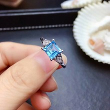 shilovem 925 silver sterling rings natural topaz  trendy fine Jewelry women anniversary new wholesale mj0606123agb