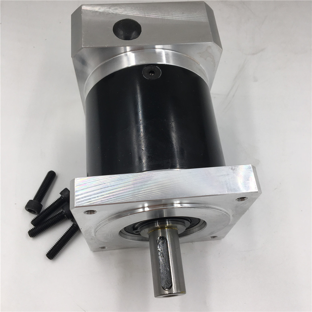 Nema34 Stepper Motor Planetary Geared Ratio 5:1 Output Shaft 16mm L121mm Gearbox Speed Reducer CNC Router Machine planetary nema23 geared stepper motor l112mm gearbox ratio 30 1 90nm stepper speed reducer cnc router engraver