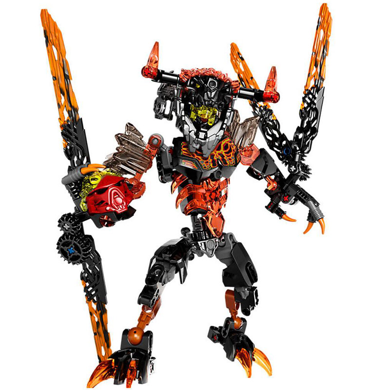 XSZ 613-2 Biochemical Warrior 71313 Bionicle Lava Beast Building Block Bricks Toys Compatible With Legoings Bioncle a toy a dream new bionicle mask of light xsz 708 serieschildren s kopaka monster of ice bionicle building block toys