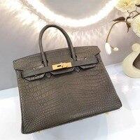LGLOIV Одежда высшего качества натуральной крокодиловой кожи сумки brikin 30 Для женщин женская Кроссбоди мешок роскошные брендовые кошельки сум