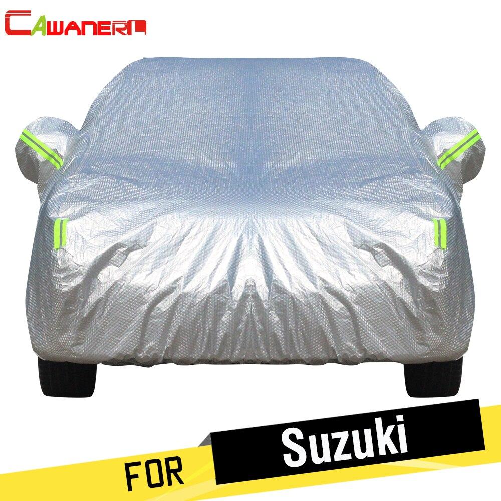 Cawanerl Pour Suzuki Alto S-Croix Alivio SX4 Vitara Épaissir Couverture De Voiture Étanche Sun Shade Neige Protection Contre La Pluie Coton couverture