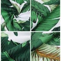 綿100%プリントマイクロボールグリーンバナナの葉生地