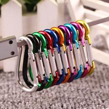 20PCS Aluminum Carabiner Key Chain Clip Outdoor Camping Keyring Snap Hook Water Bottle Buckle Travel Kit Climbing Accessories(China)