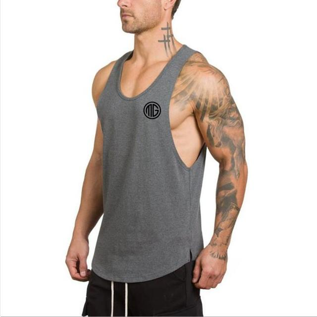 e0e9e84398c2b Muscle Guys Gyms Clothing Fitness Men Tank Top Mens Bodybuilding Stringers Tank  Tops workout Singlet Sporting