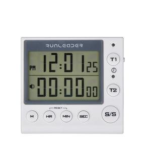 Image 1 - Кухонный таймер, цифровой таймер обратного отсчета, 2 канальный мигающий светодиодный индикатор для детской кухни, домашнего упражнения, тренажерного зала, тренировки, готовки