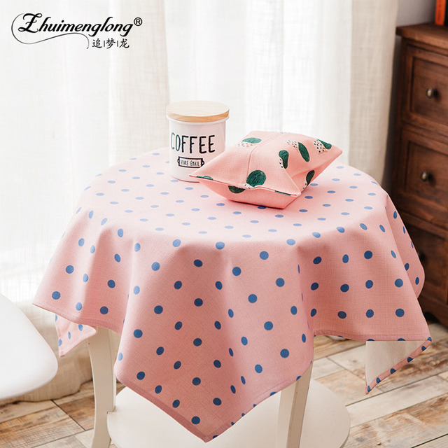 Dinner Tablecloths Fabric Art Tablecloth Modern Pastoral Dot Plaid Geometry  Style Table Cloth Cover For Wedding