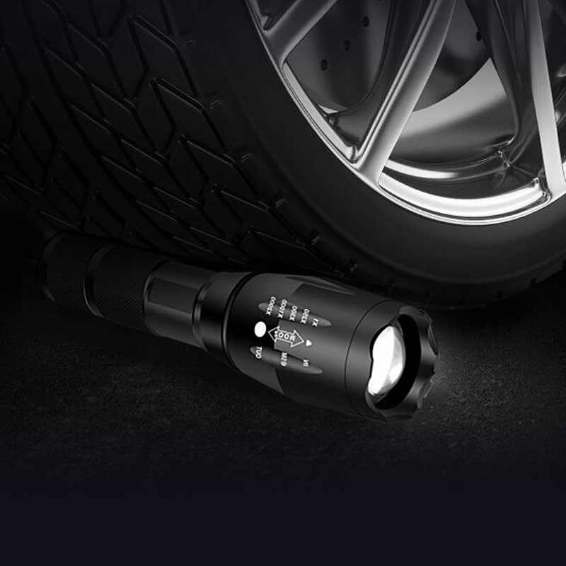 Xml t6 led lanterna q5 mini tocha lanterna tática zoomable protable à prova dwaterproof água acampamento ao ar livre luz da bicicleta