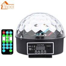 RGB сценический световой эффект кристалл магический шар Премиум Звук управление лампа с пультом дистанционного управления динамик диско свет вечерние Лазерная Вечеринка лампа