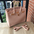 New women Plastic Jelly  Handbags Designer Girls  Fashion Candy Color Shoulder Bags Waterproof PVC Jelly Beach Bags