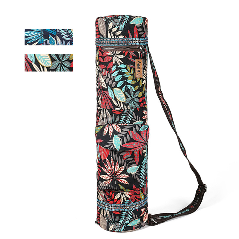 Image 2 - Printed Yoga Mat Bag Gym Mat Case For Momen Men Pilates Fintess Exercise Pad Easy Carry Yoga Backpack Dance Sports Yoga Bags-in Yoga Mats from Sports & Entertainment
