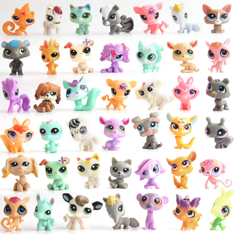 20Pcs/bag LPS Little Pet Shop Mini Cute Action Figure Doll Model Toy Animal Cat Patrulla Canina Ornaments Toys for Children Gift