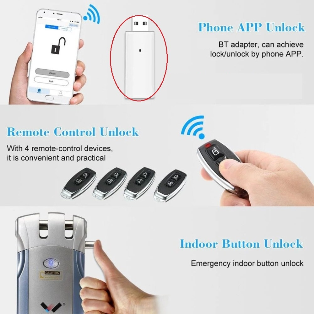Mini Smart TB Adapter USB Disk 315MHz /433.92MHz  For WAFU Smart Lock