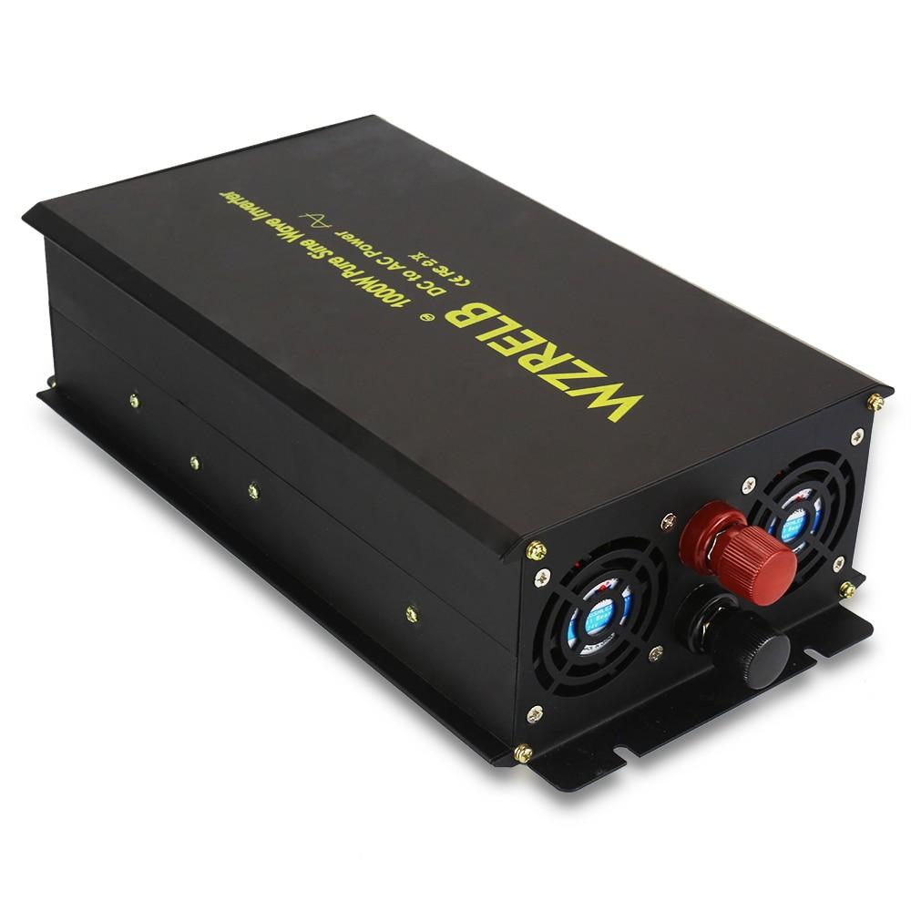 Pure Sine Wave Solar Inverter 1000W 12V 220V Home Power Inverter High Voltage Converter 12V/24V/36V/48V DC to 120V/230V/240V AC