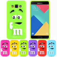 3D Cute Cartoon M&M Case for Samsung Galaxy A3 A5 A7 2014 2016 Grand Prime G530 J1 J5 J7 Soft Silicon Cover Colorful Skin NEW