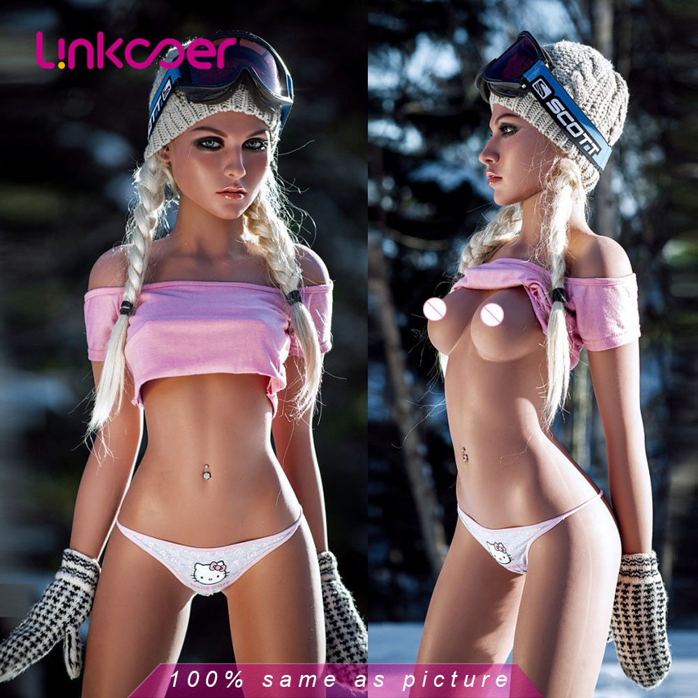 Linkooer 158cm <font><b>Sex</b></font> <font><b>Doll</b></font> Small Breast Lifelike Europe Style Realistic Vagina Oral Love <font><b>Dolls</b></font> Vagina Real Pussy <font><b>Sex</b></font> Toys for Men image