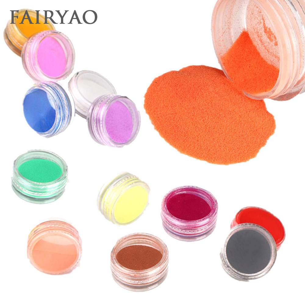 Beauty & Health Trend Mark Fairyao 12 Colors Acrylic Powder Dust Uv Gel Design 3d Tips Decoration Manicure Nail Art Diy Holographic Neon Decor Nail Salon Less Expensive Acrylic Powders & Liquids