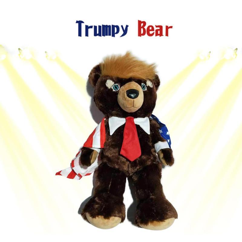 30cm Cute Animal Bear Dolls Trump Bear Plush Stuffed Toys Kids Birthday Gift Holiday Creative Gifts Toy Stuffed Animals