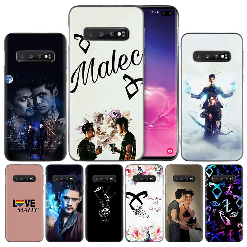 shadowhunters Malec Black Silicone Case Cover for Samsung Galaxy S10 S10e 5G S9 S8 S7 S6 Edge J8 J6 J5 J4 Plus 2018