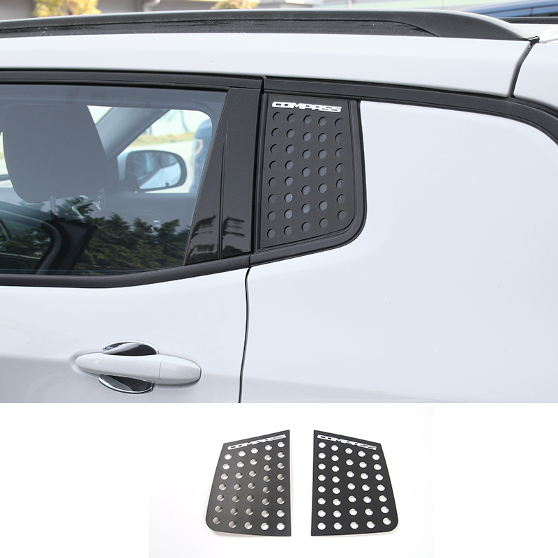 MOPAI New Arrival Car Rear Triangle Glass Cover Exterior Decoration Aluminiu Stickers Fit For Jeep Compass 2017 Up Car Styling