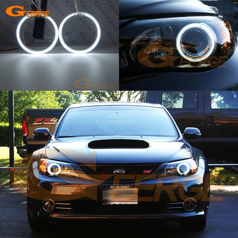 For Subaru Impreza WRX STI 2008 2009 2010 2011 2012 2013 2014 Excellent angel eyes Ultra bright illumination CCFL angel eyes kit subaru traviq главный тормозной