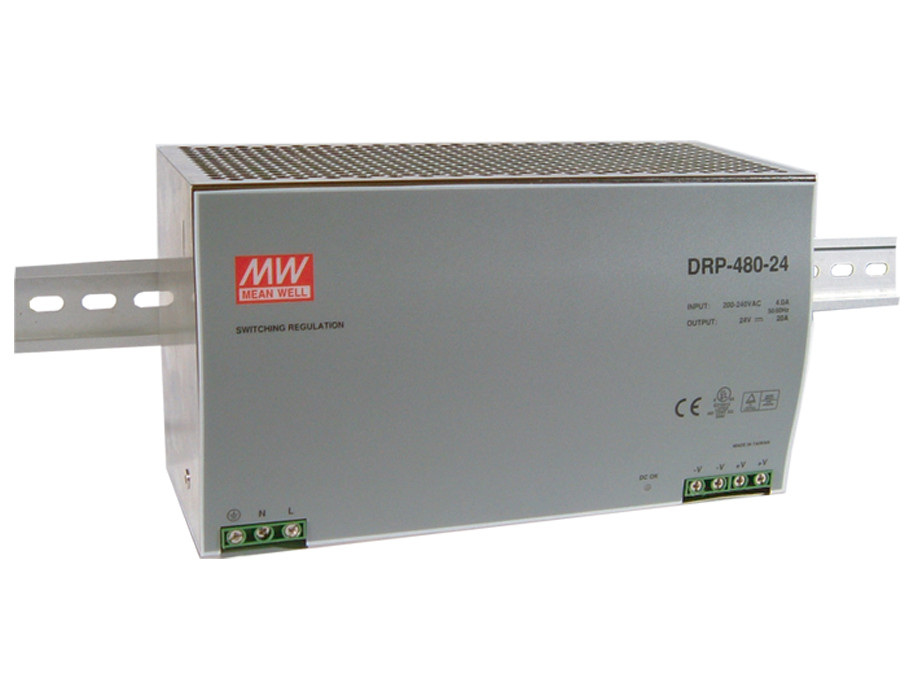 MEAN WELL original DRP-480-24 24V 20A meanwell DRP-480 24V 480W Single Output Industrial DIN Rail Power Supply бра lumion tefida 3105 1w