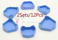 2Sets 12Pcs Brand New Dental Model Former Base Molds With Notches