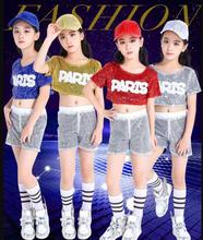 Girl Jazz Dance For Girls Costumes Kid Hip Hop Dancing Sequins Stage Performance Dress