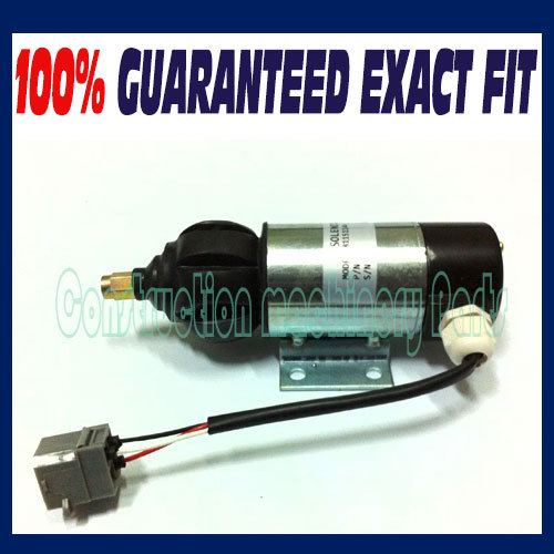 Fast free shipping, Fuel Stop Shut Off Shutdown Solenoid OE 52318 51557, 872825, 872825 For PERKINS, VOLVO PENTA 3pc fuel stop solenoid u85206452 for perkins 400 series engines 12v fast free shipping
