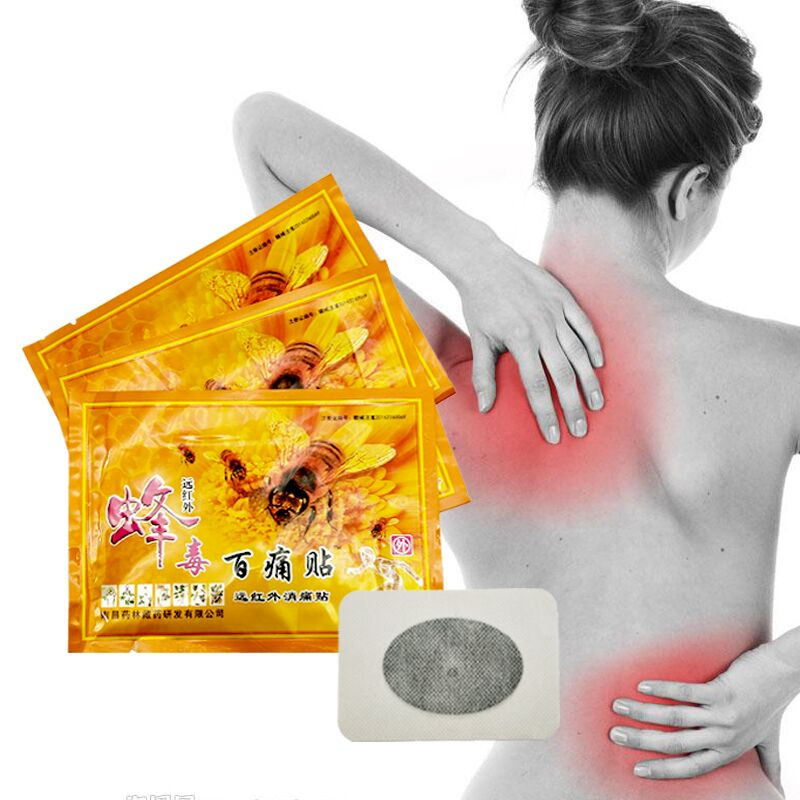 45pcs/lot Chinese Medicines Bee Venom Balm Joint Pain Patch Neck Back Body Massage Relaxation Pain Killer Body Massager Relax bone joint pain liquid calcium with vitamin d3 body relaxation