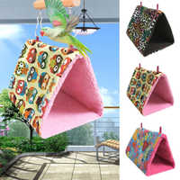 Bird Hanging Cave Cage Hamster House Hanging Cage Thick Fashion Plush Hammock Bird Toy Bird Nest Parrot Nest Warm Winter