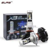 EURS Car Headlight H7 LED H4 LED H1 H11 H3 H13 H27 880 9006 9007 3000K 6500K 8000K 50W Auto Headlamp ZES Fog Light Bulb X3 roadsun 2 pcs car headlight s1 h7 led h4 h1 h3 h8 h11 h27 880 9004 9005 9006 9007 50w 8000lm auto headlamp 6500k light bulb