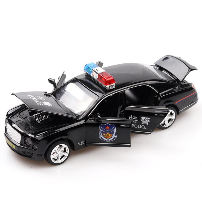 1:32 Toy Car Bentley police Metal Toy Alloy Car Diecasts & Toy Vehicles Car Model Miniature Scale Model Car Toy For Children